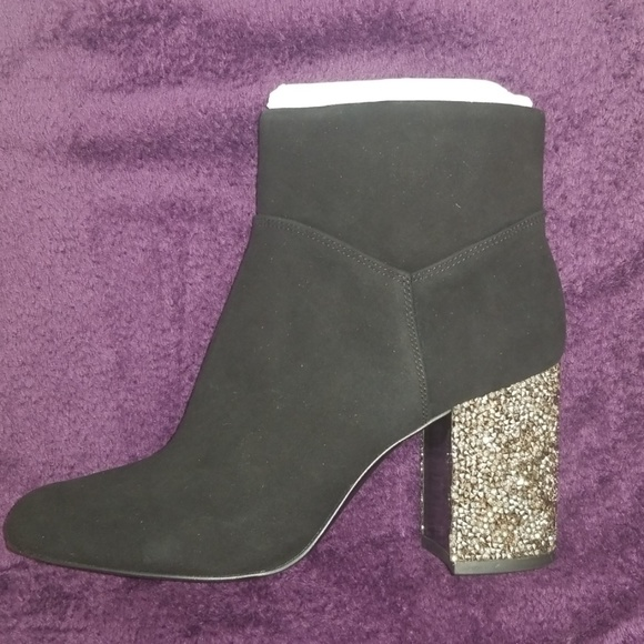 Micharl Kors Cher Suade Ankle Booties